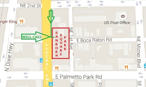 Boca Raton Wine and Food Festival Location Map